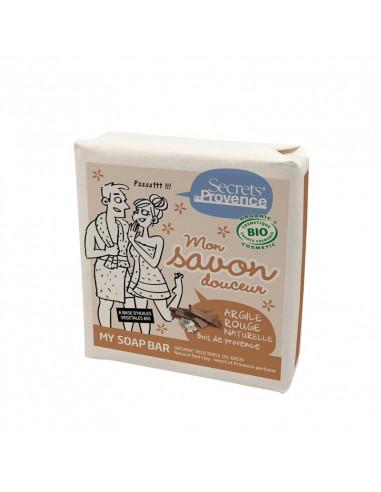 JABON PASTILLA ARCILLA ROJA & PERFUME WOOD PROVENCE  (carton)