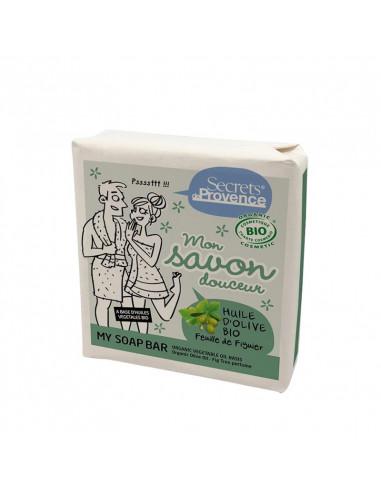 JABON PASTILLA ACEITE OLIVA & PERFUME FIG TREE  (carton)